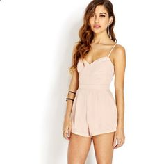 FOREVER 21 Sophisticate Woven Romper found on Polyvore