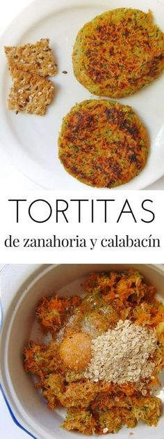 Tortitas de zanahoria y calabacín - Tasty details - Yemek Tarifleri - Resimli ve Videolu Yemek Tarifleri Veggie Recipes, Baby Food Recipes, Vegetarian Recipes, Cooking Recipes, Healthy Recipes, Healthy Cooking, Healthy Snacks, Healthy Eating, Comida Diy