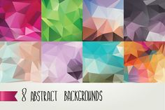Check out 8 Abstract backgrounds by Barcelona Design Shop on Creative Market