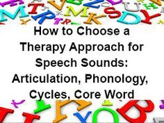 How to Choose a Therapy Approach for Speech Sounds: Articulation, Phonology, Cycles, Core Word Therapy for Speech Sounds || It can be very difficult to figure out what type of speech sound therapy to do with a child. #speechtherapy #children #SpeechandLanguage