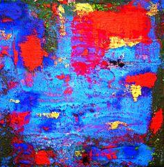 BIG BLUE I Mischtechnik auf Leinwand. Acryl, Pikmente, Leinöl heiss, Strukturmasse, Öl, http://actionmaler.de