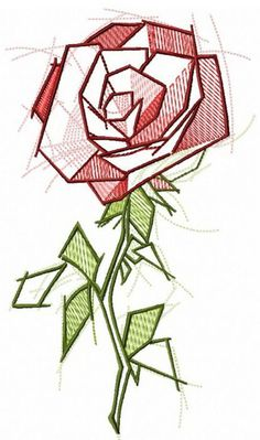 Wonderful Ribbon Embroidery Flowers by Hand Ideas. Enchanting Ribbon Embroidery Flowers by Hand Ideas. Geometric Embroidery, Geometric Drawing, Geometric Flower, Flower Embroidery Designs, Silk Ribbon Embroidery, Crewel Embroidery, Geometric Art, Machine Embroidery Designs, Embroidery Patterns