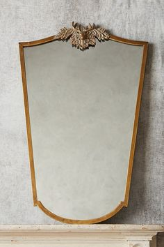 Wooded Manor Mirror by Anthropologie in Brown Wall Decor Hanging Furniture, Glass Fit, Brown Walls, Oh Deer, Engineered Hardwood, Wall Art Decor, Oversized Mirror, Vintage Inspired, Antiques
