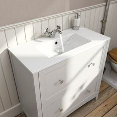 The Bath Co. Camberley white vanity unit with basin 800mm | VictoriaPlum.com