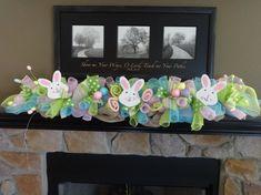 Easter Garland Easter Decoration Spring Garland by SwagsByKari