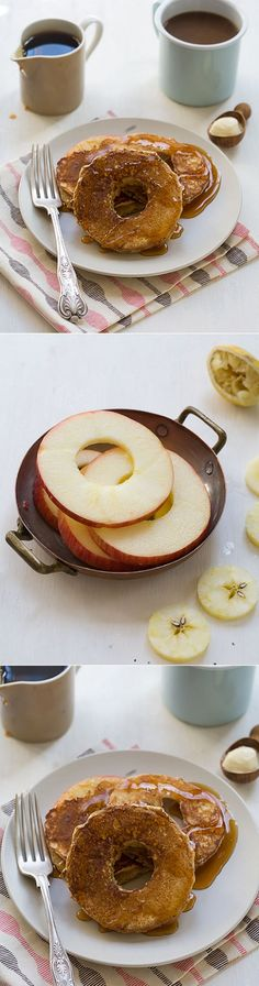 Spiced Apple Ring Pancakes- delicious Fall breakfast!