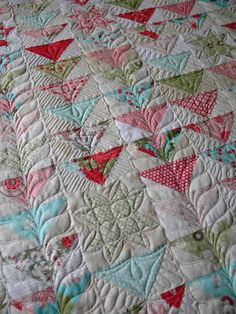 Beautiful Machine Quilting - look for the flip flop quilt.