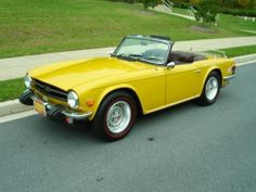 My old Triumph TR-6. I really miss that car.
