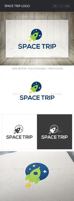 Space Trip Logo — Vector EPS #circle #creative • Available here → https://graphicriver.net/item/space-trip-logo/10767390?ref=pxcr