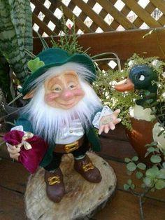 Gnome Garden, Leprechaun, Gnomes, Fairy, Christmas Ornaments, Holiday Decor, Garden Gnomes, Christmas Jewelry, Christmas Decorations