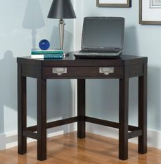 Home Styles City Chic Corner Laptop Desk Espresso