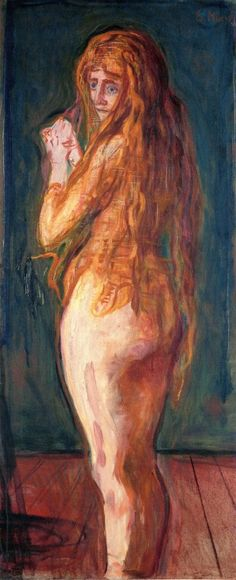Nude with Long Red Hair ~ Edvard Munch