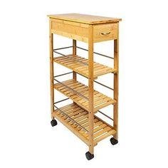 3 tier Wooden Vegetable fruit food storage rack Classic
