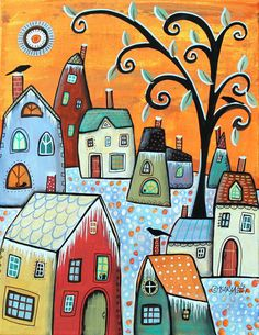 Her naive folk art paintings are very popular worldwide. Her fan base is very large. Karla Gerard. I am self-taught and I enjoy painting folk art and abstract because the styles are both simple and uncomplicated. | eBay!