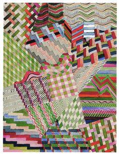 "Gunta Stölzl  Study for wall hanging ""Slit Tapestry Red/Green"",1927  Bauhaus Dessau 1925-1931"