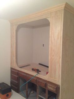 Old Kitchen Cabinets Into Built-in Bed