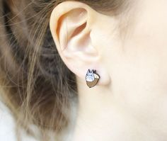 Totoro and Susuwatari Earrings ,Totoro post earrings My neighbor Totor
