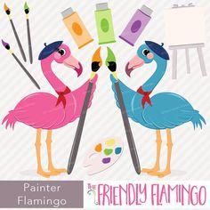 .⠀ #flamingo #friendlyflamingo #clipart