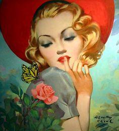 Henry Clive beautiful woman in the garden, vintage illustration art Art Vintage, Vintage Prints, Vintage Posters, Vintage Ladies, Vintage Glamour, Vintage Pictures, Vintage Images, Jolie Photo, Pin Up Art