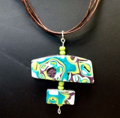 Polymer Clay Pendant Necklace and Matching by DazzlingbyDesign, $22.50