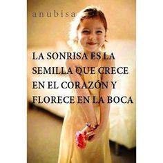 La sonrisa en la semilla que nace en el corazón y florece en la boca... #sonrisa #alegría #namaste  #bondad #reflexión #ternura #corazón #pazinterior