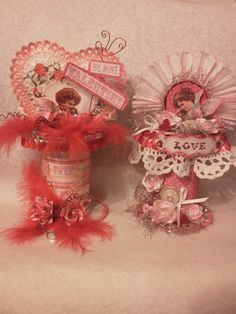Be My Valentine altered Spools