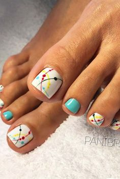 Looking for new and creative toe nail designs? Let your pedi always look perfect. We have a collection of wonderful designs for your toe nails that will be appropriate for any occasion. Be ready to explore the beauty and endless creativity of nail art! Pretty Toe Nails, Cute Toe Nails, Toe Nail Art, My Nails, Hair And Nails, Nail Nail, Pretty Toes, Nail Polish, Top Nail