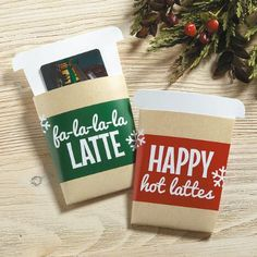 Christmas Coffee Gift Card Holders $3.99Now: $1.99