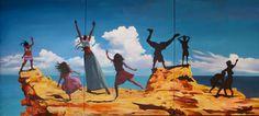 "Saatchi Online Artist Geoffrey Greene; Painting, ""Rock Dancers"" #art"