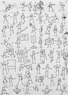 Drawing Tips draw a stickman Doodle Drawings, Easy Drawings, Doodle Art, Drawing For Kids, Drawing Tips, Stick Figure Drawing, Visual Note Taking, Doodle People, Visual Learning