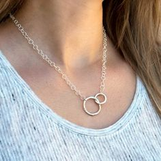 Dynamic Duo Necklace - New Arrival!RockHill Designs #sterlingsilver #circlejewelry #silver #handcraftedjewelry