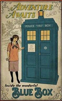 Victorian Girl // Vintage Style // Alice in Wonderland // Doctor Who… Doctor Who Poster, Doctor Who Fan Art, Classic Doctor Who, Crossover, Pop Culture Art, Geek Culture, Police Box, Good Doctor, Dr Who
