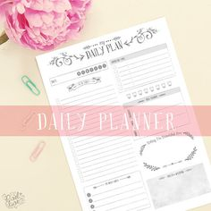 Daily Planner ~ A Pretty Little Daily Planner to organise your day // Printable Planner // Planner Page // Instant Download // Organizer