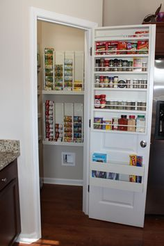 Love Our Pantry New Indoor E Rack Holder And Rotating Can Dispenser Walk In Is Awesome So Thankful For All The Cabinet Drawer