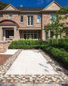Driveway pavers will take the face of your home from drab to fab in no time. Keep reading for everything you need to know before you make your pick. Landscape Pavers, Landscape Design, Garden Pool, Terrace Garden, Driveway Design, Driveway Pavers, Deck Colors, Paver Stones, House Games
