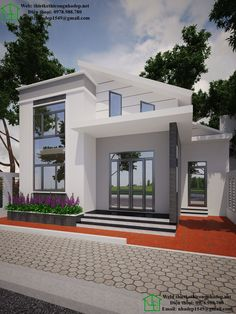 12 Tips for Contemporary Living Room Decoration Minimalist House Design, Small House Design, Dream Home Design, Modern House Design, Modern Bungalow House, Cottage Style House Plans, Modern Mansion, Small Modern House Plans, Village House Design