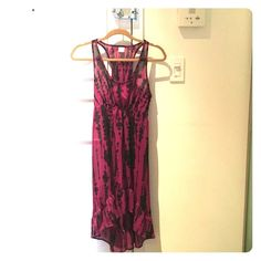 LIKE NEW Sheer Purple & Black Dress Great for a coverup over a bathing suit or a cute summer dress with a light slip underneath. This has a racer back and high/low ruffle-esque bottom. Worn only a couple of times - like new! Xhilaration Dresses High Low