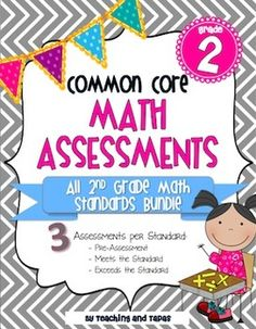 CCSS Math Assessments for 2nd grade --these are amazing! Very thorough and rigorous. $