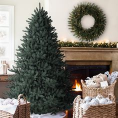 d9b642dea7ac This Blue Spruce Christmas tree by Balsam Fir is the most realistic  artificial Christmas tree you could ask for. Read more on how to decorate  your home for ...