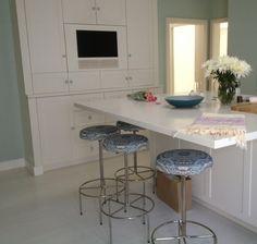 Painted kitchen sea green Sienna Oosterhouse LA based interior design