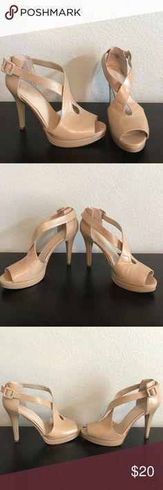 Nine West Size 8.5 Heels You'll love these Nine West Size 8.5 neutral heels. They are very versatile and look good with everything. Add these to your closet today. Nine West Shoes Heels