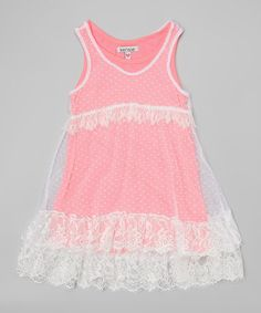 Look what I found on Neon Pink Lace Overlay Dress - Kids by kensiegirl Toddler Girl Dresses, Toddler Girls, Girls Dresses, Lace Overlay Dress, Girly Outfits, Pink Lace, Baby Dress, Cute Girls, Athletic Tank Tops