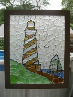 Lighthouse Sea Glass Mosaic