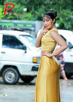 Burmese Girls, Myanmar Women, Curvy Girl Outfits, Attractive Girls, Cute Summer Dresses, Beautiful Asian Women, Sexy Asian Girls, Asian Woman, Asian Beauty