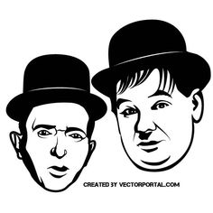 Laurel and Hardy vector image.