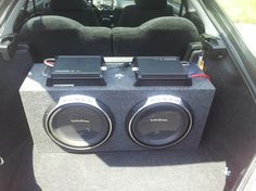 Fosgate subs is a series of Rockford. It is the most updated series of Rockford. It is mostly known for its bass boosting system. It is made with a tough material that makes you worriless so that you can play it for hours. Fi Car Audio, Custom Car Audio, Audio Speakers, Kicker Subwoofer, Powered Subwoofer, Car Dump, Kenwood Stereo, Subwoofer Box Design, Car Audio Installation
