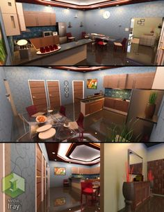 Merveilleux Modern Kitchen And Dining Room Set 1 Is A Interior, Furniture, Scene,  Environments And Props, Household For Daz Studio Or Poser Created By