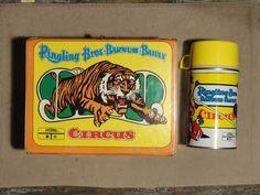 Ringling Bros. Barnum Bailey Circus Vinyl Lunch Box 1970