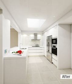 A classic white kitchen, but feels a bit cheap