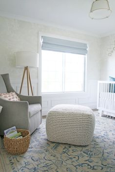 A Sweet, Serene and Sophisticated Nursery! | One Room Challenge - The REVEAL - Chris Loves Julia